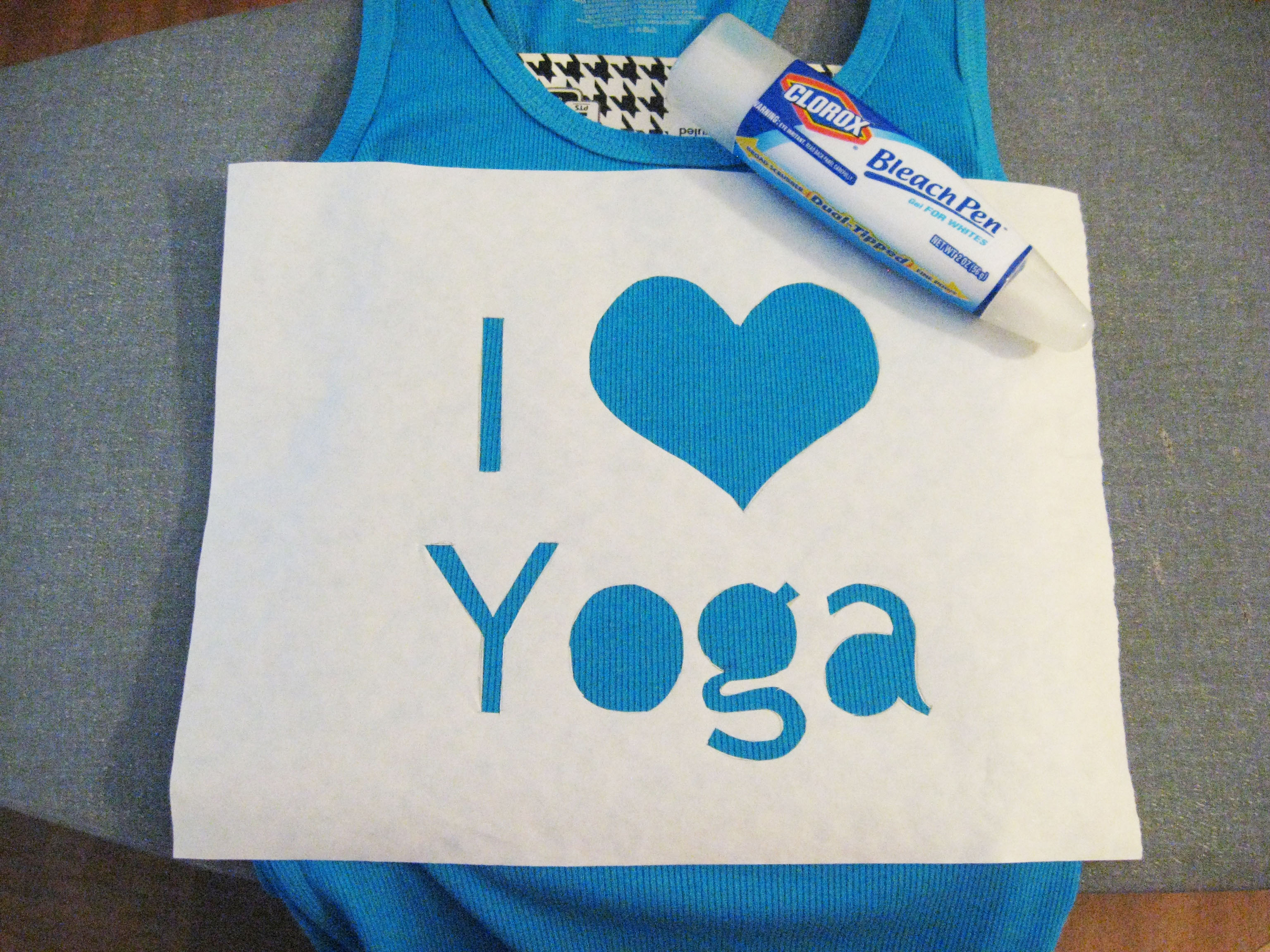 DIY I Love Yoga Bleach Pen Shirt | Make Something Mondays!
